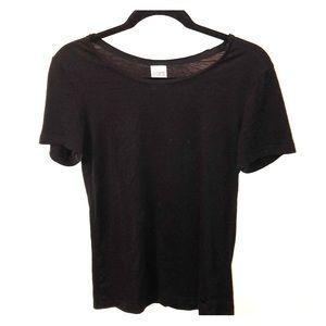 PINK Victoria's Secret Plain Black Tee Shirt